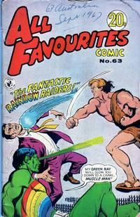 Cover Thumbnail for All Favourites Comic (K. G. Murray, 1960 series) #63