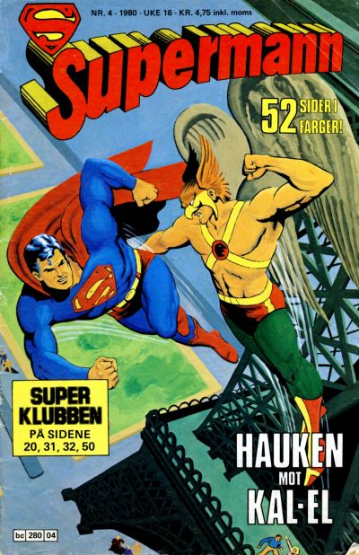 Cover for Supermann (Semic, 1977 series) #4/1980