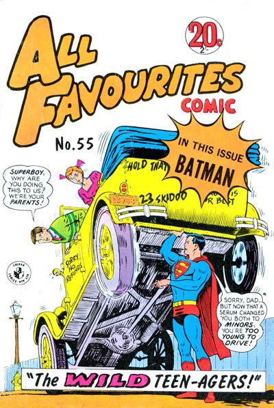 Cover for All Favourites Comic (K. G. Murray, 1960 series) #55