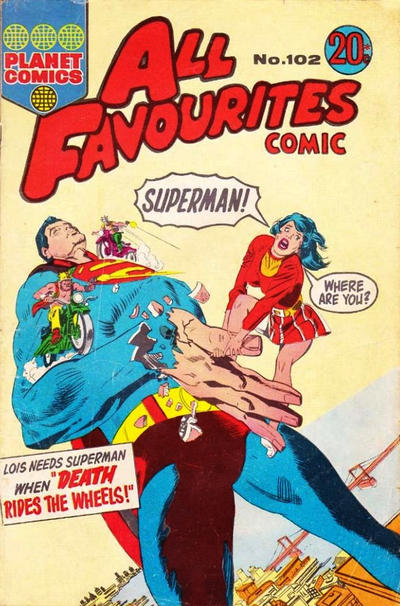 Cover for All Favourites Comic (K. G. Murray, 1960 series) #102