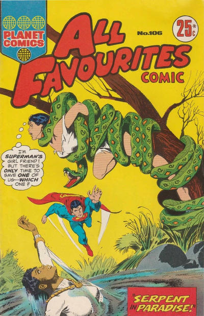 Cover for All Favourites Comic (K. G. Murray, 1960 series) #106