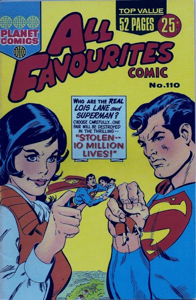 Cover for All Favourites Comic (K. G. Murray, 1960 series) #110