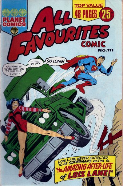 Cover for All Favourites Comic (K. G. Murray, 1960 series) #111