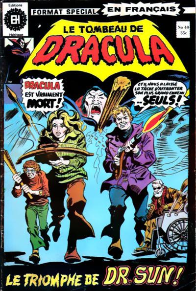 Cover for Le Tombeau de Dracula (Editions Héritage, 1973 series) #40
