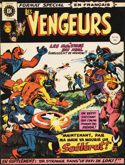 Cover for Les Vengeurs (Editions Héritage, 1974 series) #12