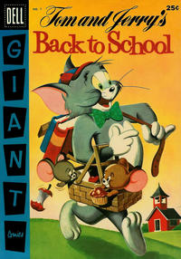 Cover Thumbnail for Tom and Jerry's Back to School (Dell, 1956 series) #1