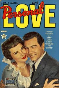 Cover Thumbnail for Personal Love (Eastern Color, 1950 series) #2