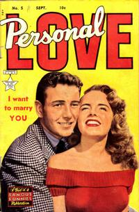 Cover Thumbnail for Personal Love (Eastern Color, 1950 series) #5