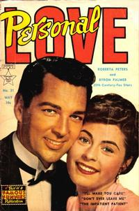 Cover Thumbnail for Personal Love (Eastern Color, 1950 series) #21