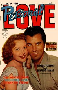 Cover Thumbnail for Personal Love (Eastern Color, 1950 series) #27