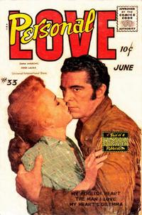 Cover Thumbnail for Personal Love (Eastern Color, 1950 series) #33