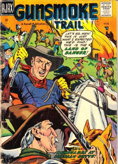 Cover for Gunsmoke Trail (Farrell, 1957 series) #2