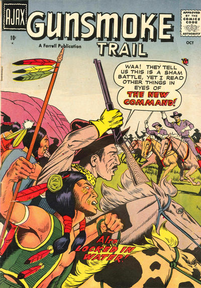Cover for Gunsmoke Trail (Farrell, 1957 series) #3