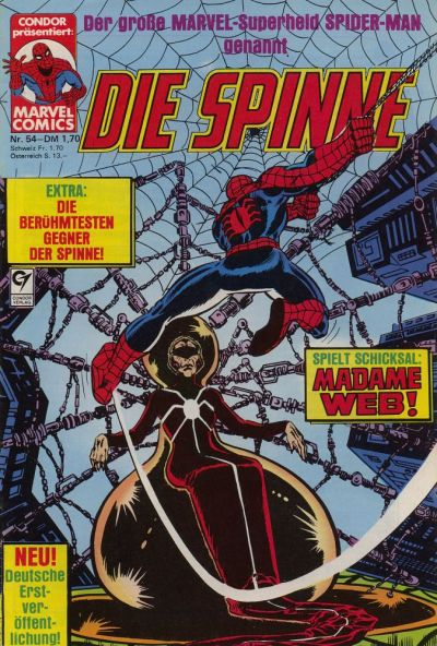 Cover for Die Spinne (Condor, 1980 series) #54