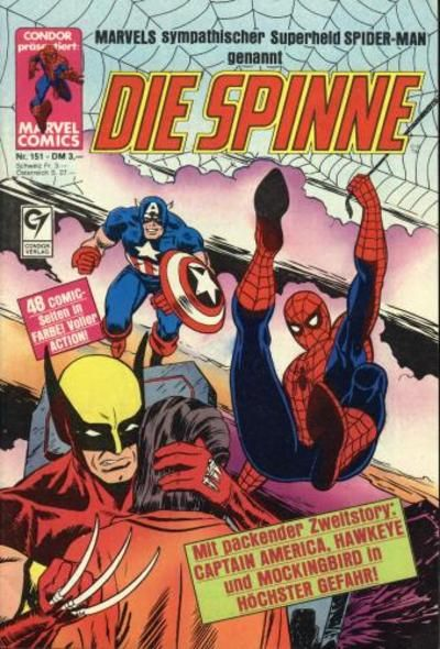 Cover for Die Spinne (Condor, 1980 series) #151
