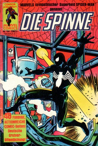 Cover for Die Spinne (Condor, 1980 series) #154