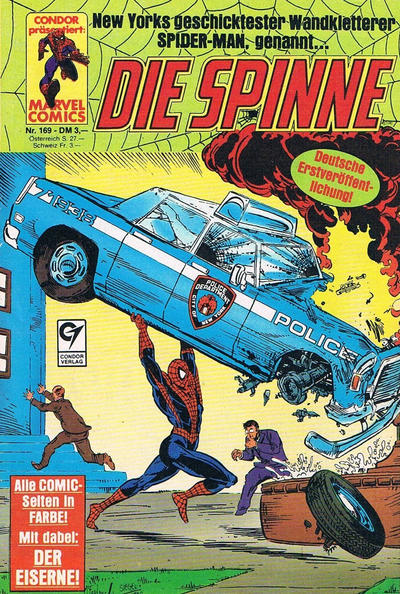Cover for Die Spinne (Condor, 1980 series) #169