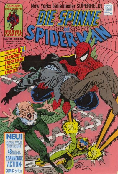 Cover for Die Spinne (Condor, 1980 series) #195
