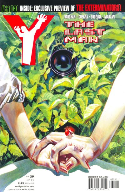 Cover for Y: The Last Man (DC, 2002 series) #39