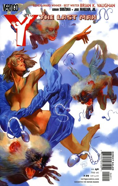 Cover for Y: The Last Man (DC, 2002 series) #40