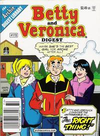 Cover Thumbnail for Betty and Veronica Comics Digest Magazine (Archie, 1983 series) #172