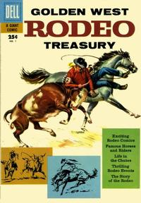 Cover Thumbnail for Golden West Rodeo Treasury (Dell, 1957 series) #1