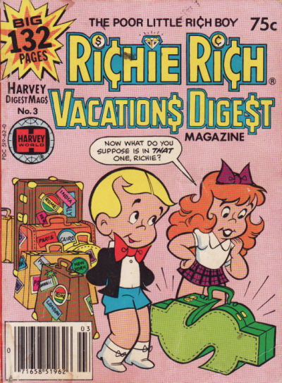Cover for Richie Rich Vacations Digest (Harvey, 1977 series) #3