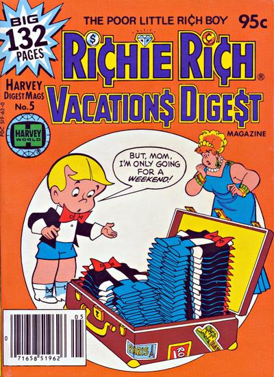 Cover for Richie Rich Vacations Digest (Harvey, 1977 series) #5