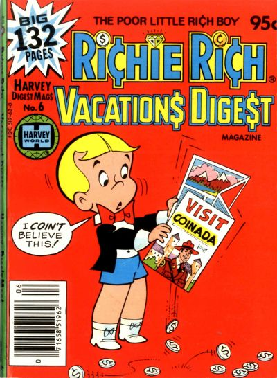 Cover for Richie Rich Vacations Digest (Harvey, 1977 series) #6