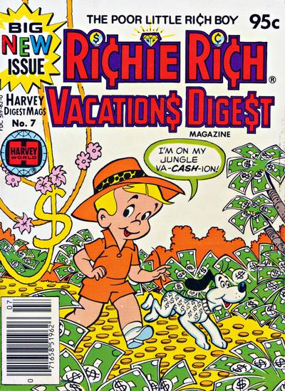 Cover for Richie Rich Vacations Digest (Harvey, 1977 series) #7