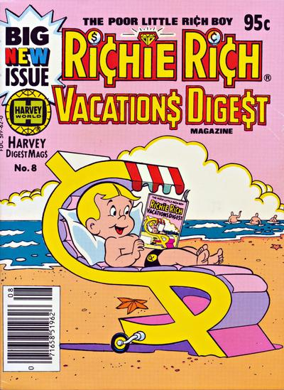 Cover for Richie Rich Vacations Digest (Harvey, 1977 series) #8