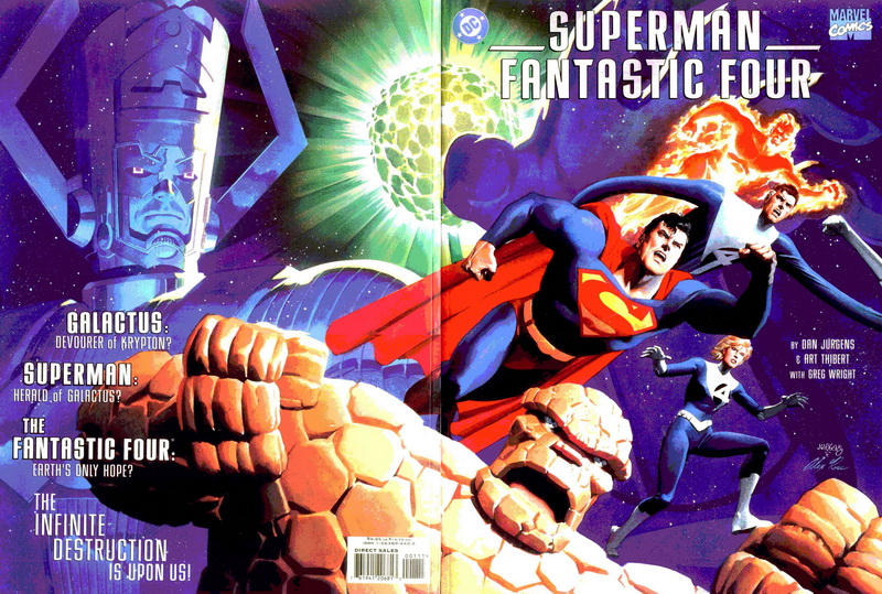 Cover for Superman / Fantastic Four (DC, 1999 series)