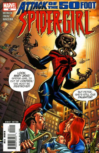Cover for Spider-Girl (Marvel, 1998 series) #90