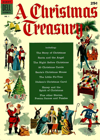 Cover for A Christmas Treasury (Dell, 1954 series) #1