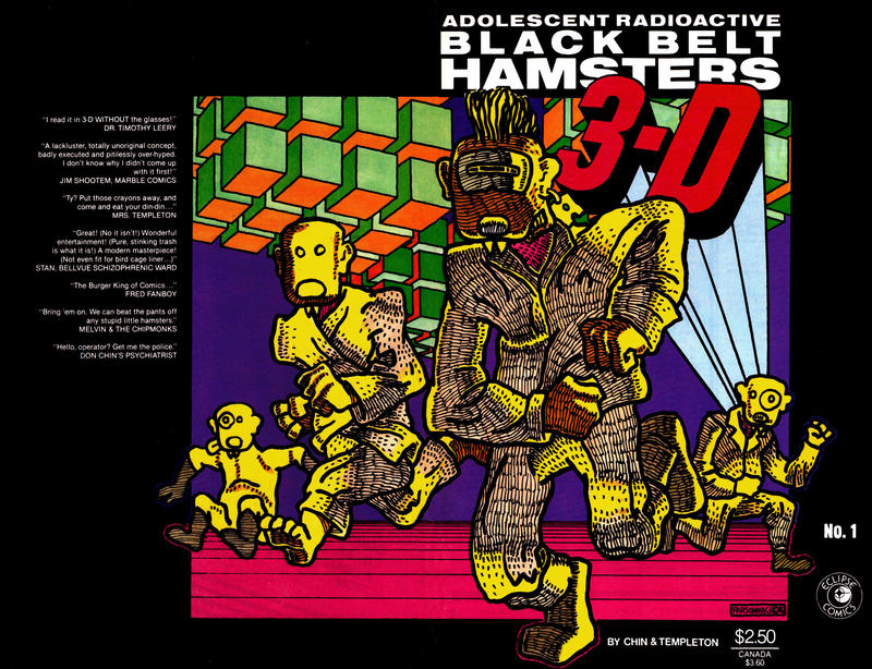 Cover for Adolescent Radioactive Black Belt Hamsters 3-D (Eclipse, 1986 series) #1