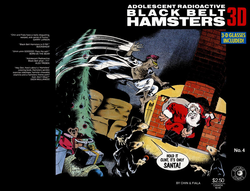Cover for Adolescent Radioactive Black Belt Hamsters 3-D (Eclipse, 1986 series) #4