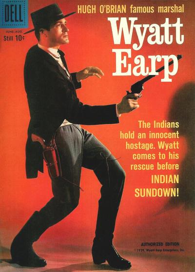 Cover for Hugh O'Brian, Famous Marshal Wyatt Earp (Dell, 1958 series) #7