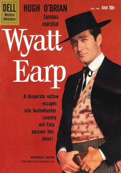 Cover for Hugh O'Brian, Famous Marshal Wyatt Earp (Dell, 1958 series) #9