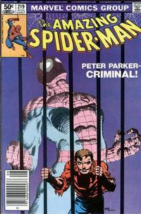 Cover for The Amazing Spider-Man (Marvel, 1963 series) #219 [Newsstand]
