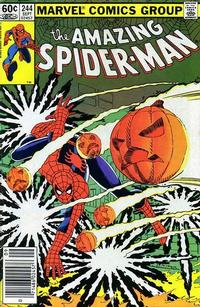 Cover Thumbnail for The Amazing Spider-Man (Marvel, 1963 series) #244 [Newsstand]