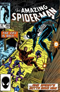 Cover Thumbnail for The Amazing Spider-Man (Marvel, 1963 series) #265 [Direct]