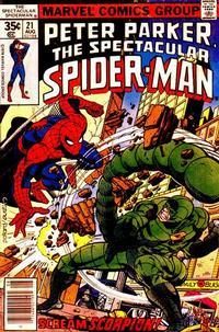 Cover Thumbnail for The Spectacular Spider-Man (Marvel, 1976 series) #21