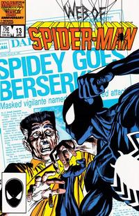 Cover Thumbnail for Web of Spider-Man (Marvel, 1985 series) #13 [Direct]