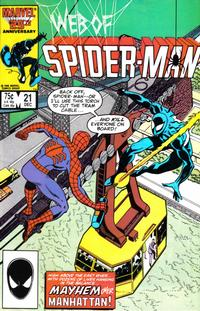 Cover Thumbnail for Web of Spider-Man (Marvel, 1985 series) #21 [Direct Edition]