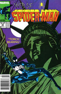 Cover Thumbnail for Web of Spider-Man (Marvel, 1985 series) #28 [Newsstand Edition]