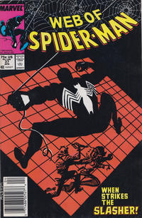 Cover Thumbnail for Web of Spider-Man (Marvel, 1985 series) #37 [Newsstand Edition]