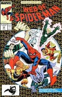 Cover Thumbnail for Web of Spider-Man (Marvel, 1985 series) #50 [Direct Edition]