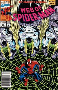 Cover Thumbnail for Web of Spider-Man (Marvel, 1985 series) #98 [Newsstand Edition]