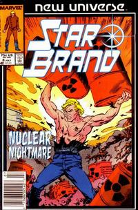 Cover Thumbnail for Star Brand (Marvel, 1986 series) #8 [Newsstand Edition]