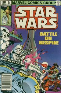 Cover Thumbnail for Star Wars (Marvel, 1977 series) #57 [Newsstand]